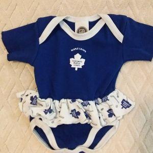 Toronto Maple Leafs tutu onesie-EUC
